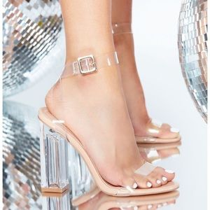 Fashion Nova clear high heels